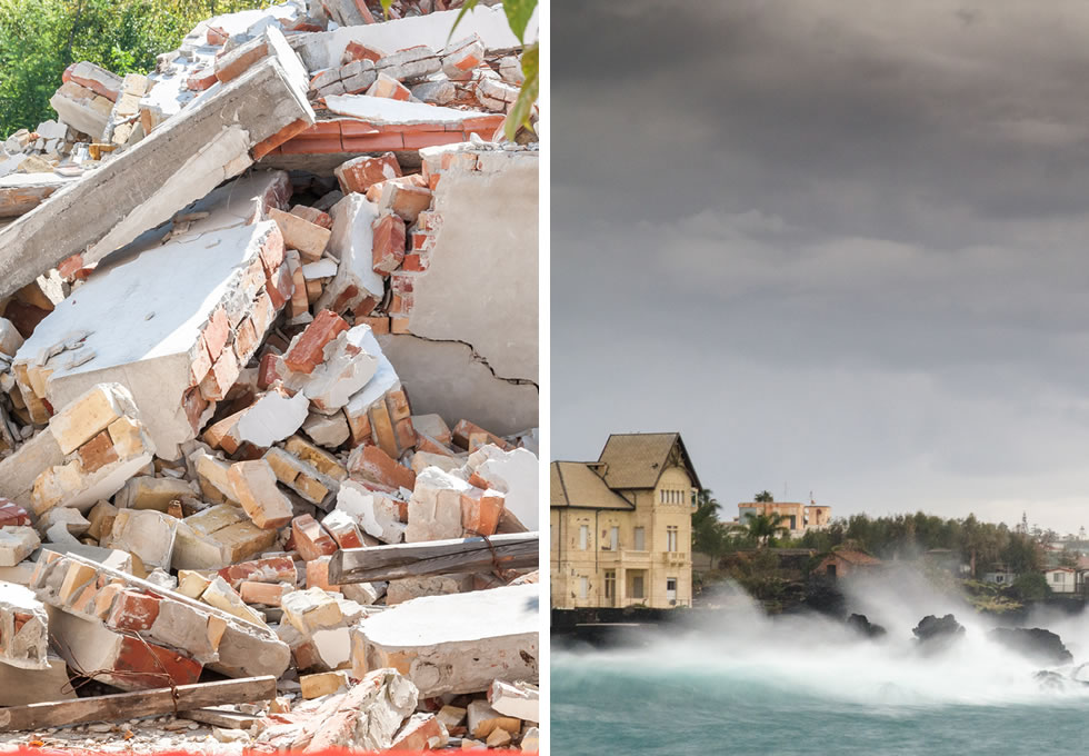 Earthquakes and Hurricanes
