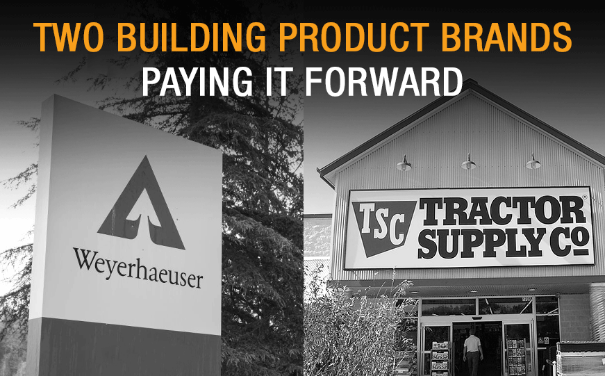 Two Building Product Brands Paying It Forward