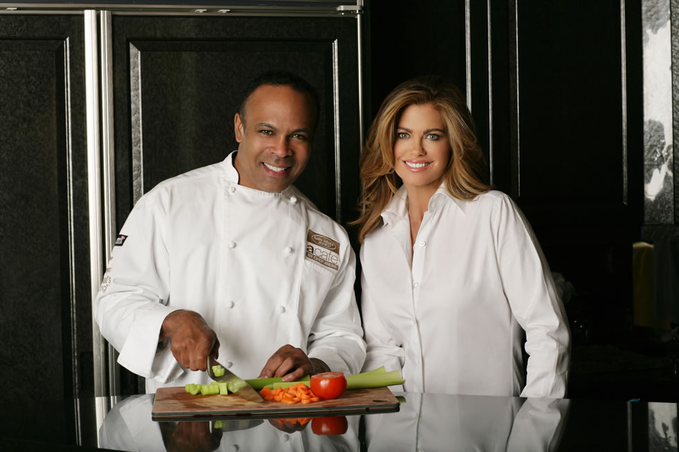 Chef Andre and kathy ireland