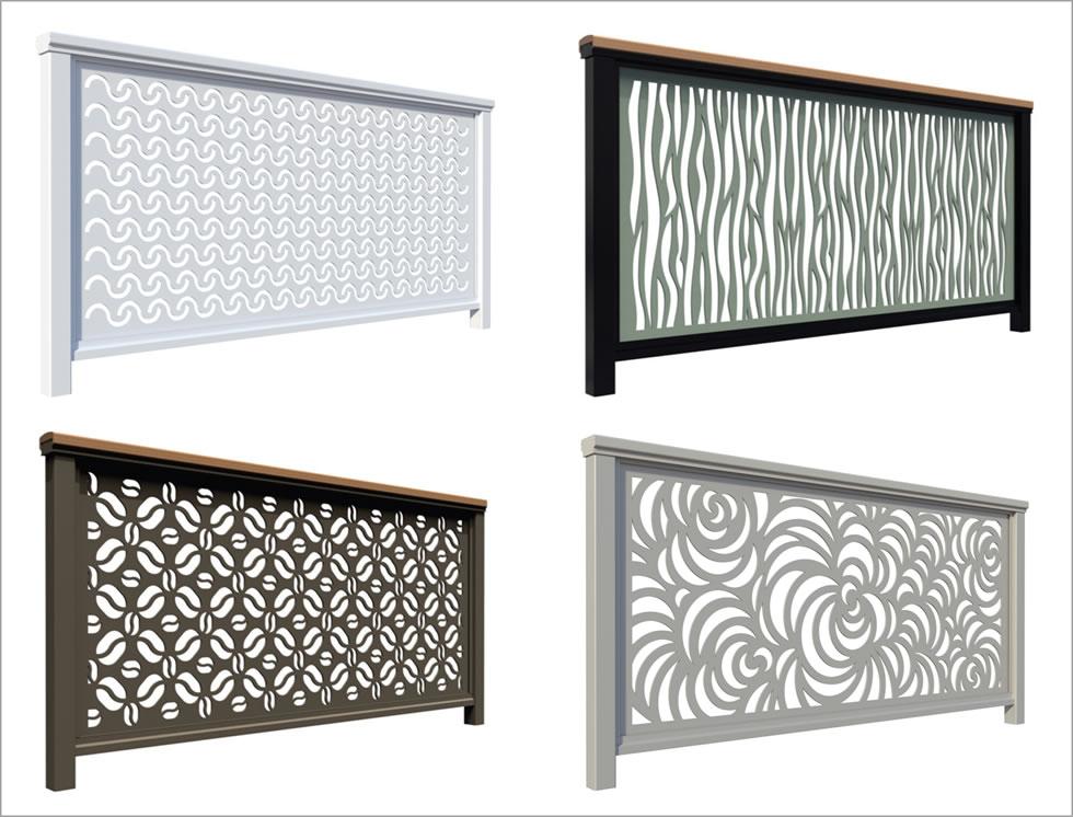 DesignRail Panel Infill - Laser Cut Aluminum