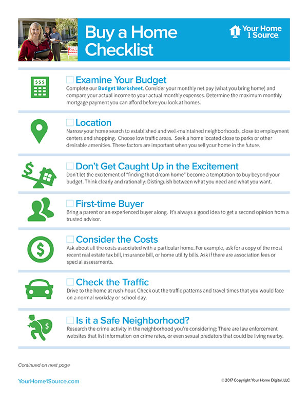 Buy a Home Checklist