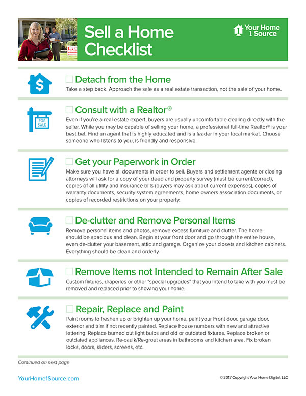 Sell a Home Checklist